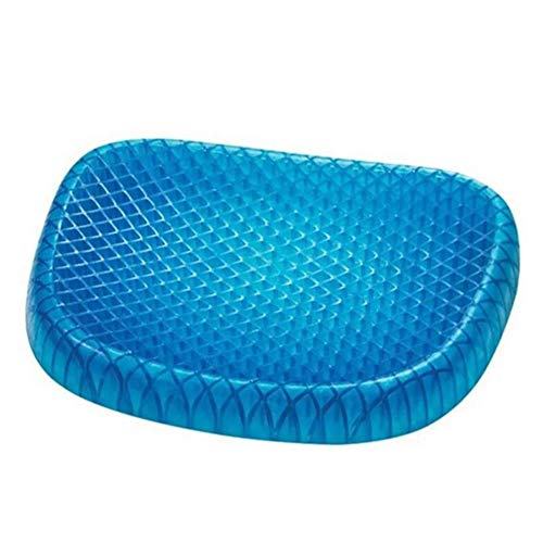 Breathable Seat cushion Soft Multifunction Four seasons Chair pad In common use Blue Chair pad Gel Non slip Comfortable-Blue 30x34cm(12x13inch)