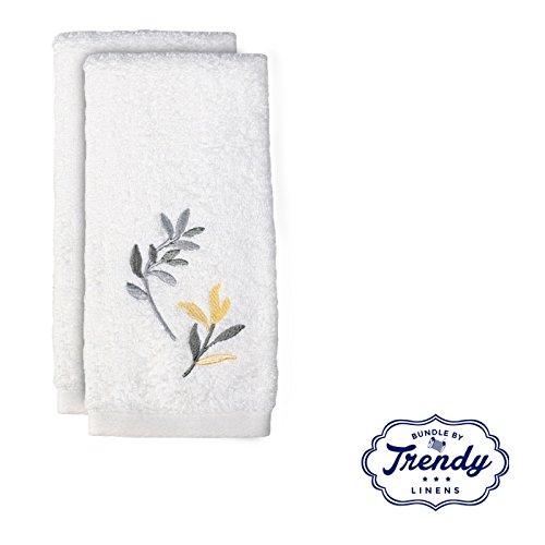 Trellis Hand Towels - Bathroom Shower Collection - Set of 2