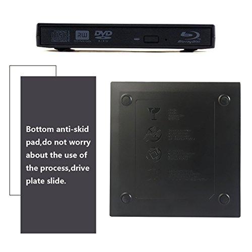 tengertang USB External blu-Ray Drive, Portable DVD Burner,BD-ROM,DVD/CD-RW/ROM Writer,Support xp/Win/ Linux System Related Desktop, Notebook, etc.(Black) by tengertang (Image #5)
