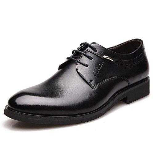 CAI Herren Formelle Schuhe Vier Jahreszeiten Neue Herren Business Kleid Schuhe/British LUN Runde Kopf Schuhe/Low Top Lace up/Buumlro/Party Freizeitschuhe (Farbe : Schwarz  Größe : 40) Schwarz