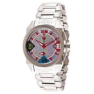 Locman Men's Multi Color Dial Stainless Steel Band Watch - 241854