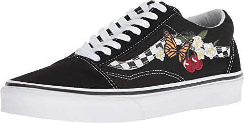 Vans Unisex Old Skool Checker Floral Black Sneaker - 4.5