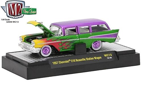 M2 Machines Wild Cards 13 1:64 1957 Chevrolet 210 Beauville Station Wagon ()