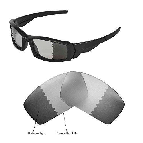 Walleva Replacement Lenses for Oakley Canteen(2013&before) Sunglasses - Multiple Options Available (Transition/photochromic - - Oakley Canteen Lenses Replacement