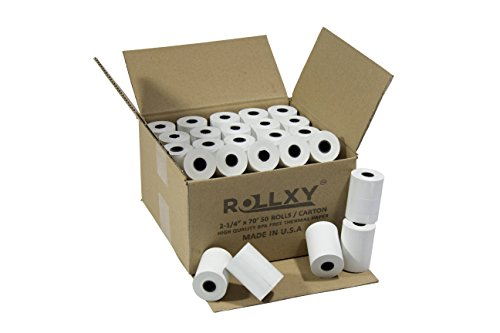 50 Rolls of Thermal Paper 2 1/4'' by 70' Verifone VX520 First Data FD400 Nurit 8000 8020 STP103 (Paper Vx520 Roll)