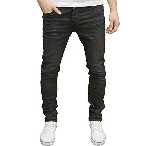 1d3124c2 Loyalty and Faith Mens Designer Slim Fit Stretch Denim Jeans (32W x 34L,  Blackwash