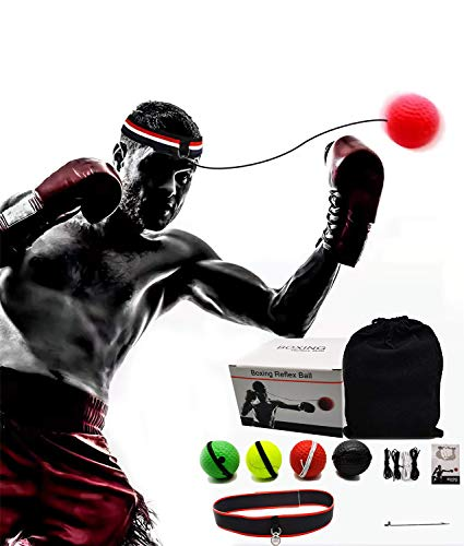 Coolki Boxing Reflex Ball Set,Boxing Boxing Gear for Kids and Adults-4 Difficulty Level Speed Boxing Punching Ball ,Set…