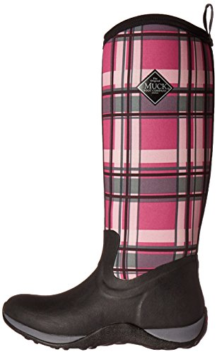 Muck Boot Women's Arctic Adventure Tall Snow Boot, Black/Pink Plaid, 10 US/10 M US by Muck Boot (Image #5)