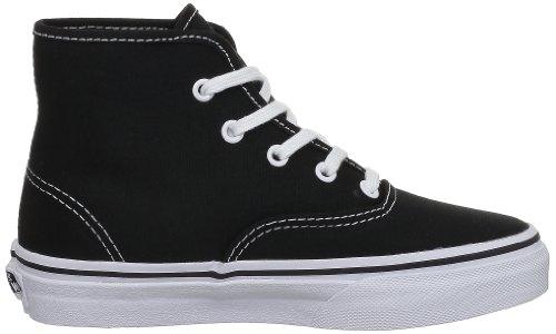 Vans K Authentic Hi, Zapatillas Unisex Niños Negro - negro (Black/True White)
