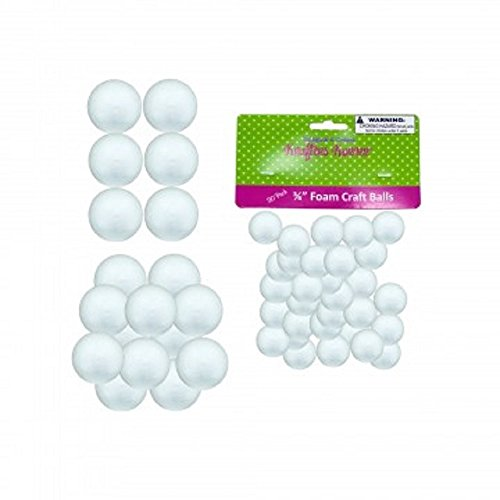 50 Count Small Foam Craft Balls - 30 pack 3/4