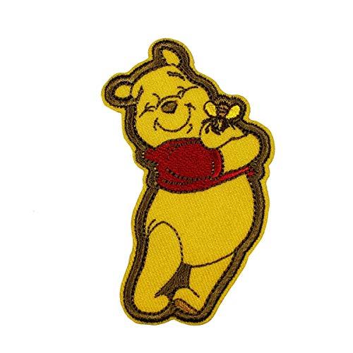 Disney Winnie The Pooh Hug Patch Honey Bee Cartoon Embroidered Iron On Applique