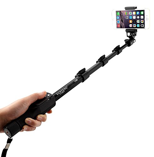 YunTeng Universal Monopod for Mobile Phones and Camera (Black) - 2