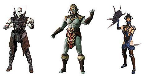 Mortal Kombat X Series 2 Quan Chi, Kotal Kahn, Kitana 6-Inch Action Figures Set of 3
