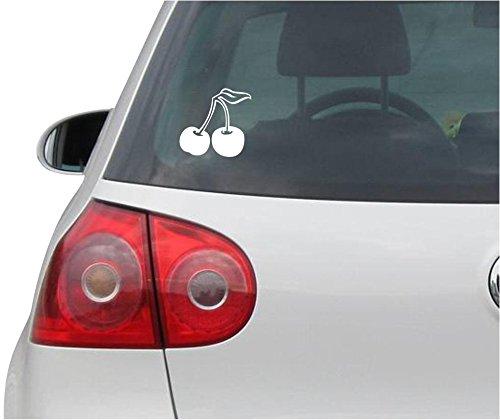 (INDIGOS UG Sticker/Decal - JDM - Die cut - Cherries Cool Sexy Decal Car Window Laptop Sticker - white - 93mmx88mm )