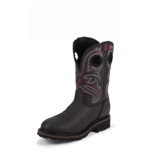 Tony Lama Men's 3R Waterproof Pull-On Work Boot Steel Toe Black 9.5 D(M) US (Tony Lama Work Boots Steel Toe compare prices)
