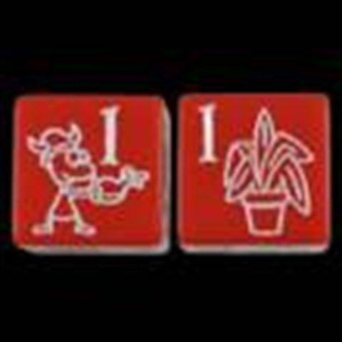 Steve Jackson Games Munchkin Jolly Jumbo D6 Red Card Game