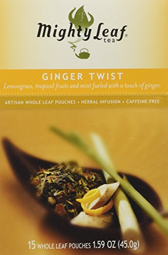 Mighty Leaf Tea Ginger Twist, Whole Leaf Pouches, 1.59-Ounces, 15-Count (Pack of 3) (Mighty Leaf Tea Mint)