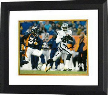 Jerry Rice Raiders Jersey (Jerry Rice Signed Autograph Oakland Raiders 8x10 Photo Framed Photo - White Jersey)