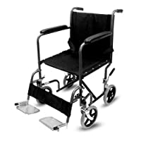 Lightweight Transit Folding Wheelchair Portable Travel Chair Puncture Proof Carry Wheel Chair