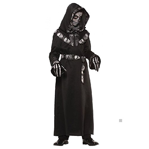 Grim Reaper Costume Kids Scary Death Halloween Fancy -