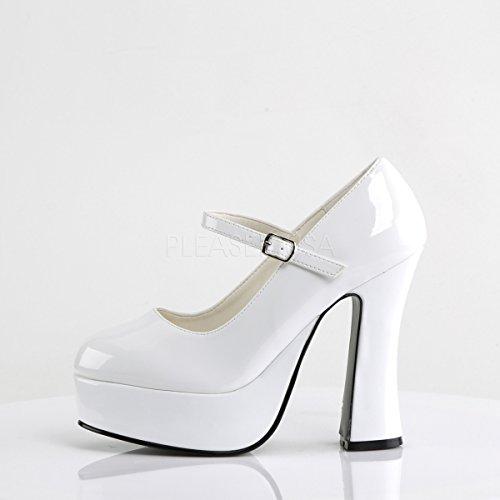 Platforms Womens Patent 50 Dolly White PleaserUSA 8qTd5nq