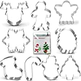 Christmas Cookie Cutter Set 9pc Gingerbread Man, Snowflake, Angel, Tree Deal (Small Image)