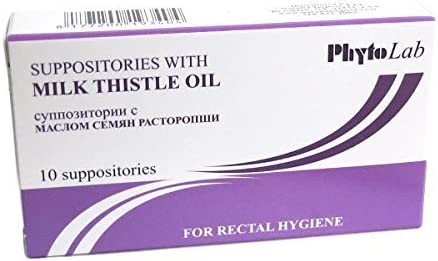 Suppositories w Milk Thistle Oil, 10 Pcs