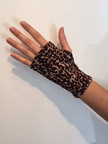 Fingerless Gloves. Vintage Influence. Animal Print. One Size Fits All.