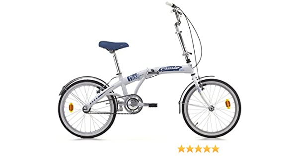20 Pulgadas Cinzia Flexy Bike Bicicleta plegable, blanco-azul ...