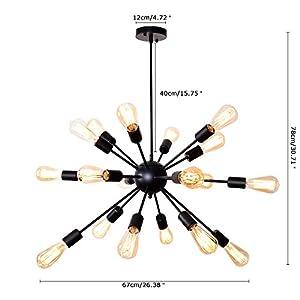 Lingkai Sputnik Lámparas de araña vintage-2