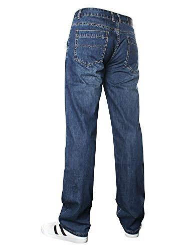 Blau Uomini D'annata Dei Del Adattano Di Degli Denim Serie Modo I Jeans Pantaloni Abbigliamento Comodi Rilassati Tqawap