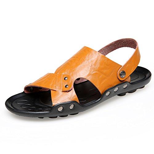 Xing Lin Sandalias De Hombre Zapatillas De Gran Tamaño 50 Hombres Verano Indoor Plus 47 Fertilizante Engrosada Cruz 48 45 49 Cool Zapatillas Casa Naranja 46,40,553 Extra