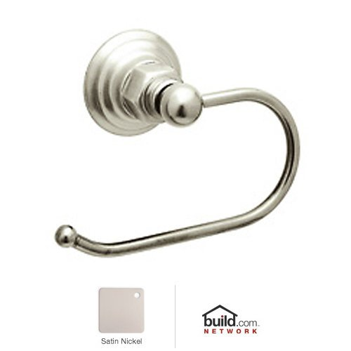 Rohl ROT8STN Country Bath Hook Toilet Paper Holder in Satin Nickel