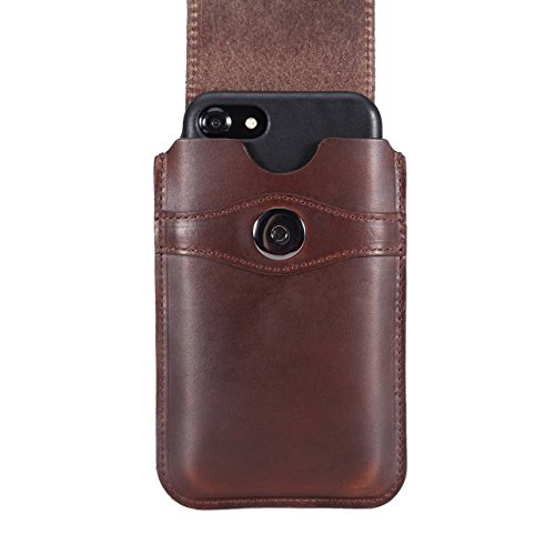 Limited Edition: Blacksmith-Labs Barrett Mezzano 2017 Premium Leather Swivel Belt Clip Holster for Apple iPhone 6/6s/7 for use with Apple Leather Case - Horween Chromexcel Havana Brown/Gunmetal Clip by Blacksmith-Labs (Image #4)