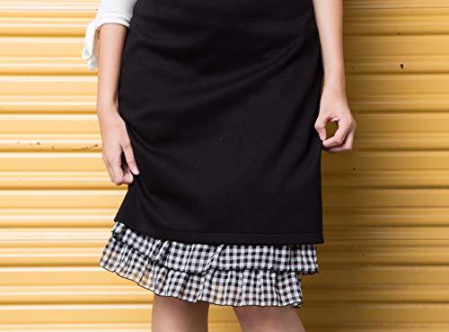Peekaboo-Chic Cottage Check Half Slip Skirt Extender (Black, l/XL) by Peekaboo-Chic (Image #5)