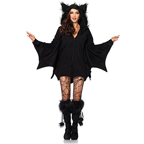 Cozy Bat Dress Adult Womens Costumes (Costour Women's Cozy Bat Costume Adult and Child)