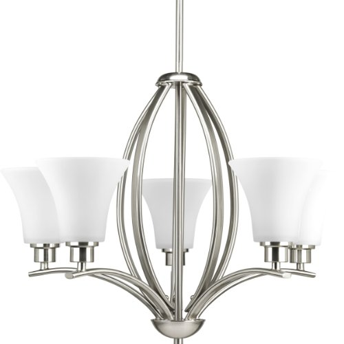 Progress Lighting P4490-09 Joy Collection 5-Light Chandelier, Brushed - Light Nickel Five Collection Chandelier