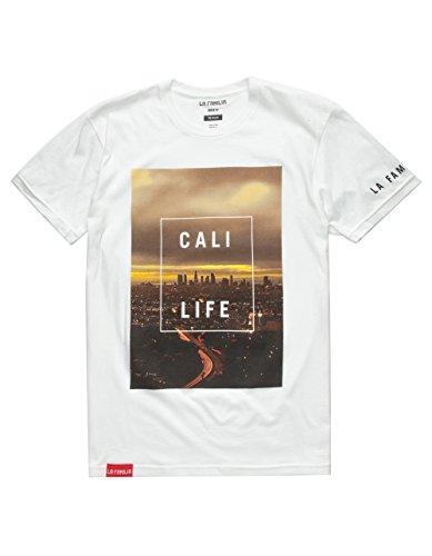 LA FAMILIA Cali Life Mens T-Shirt, White, - Familia Tee