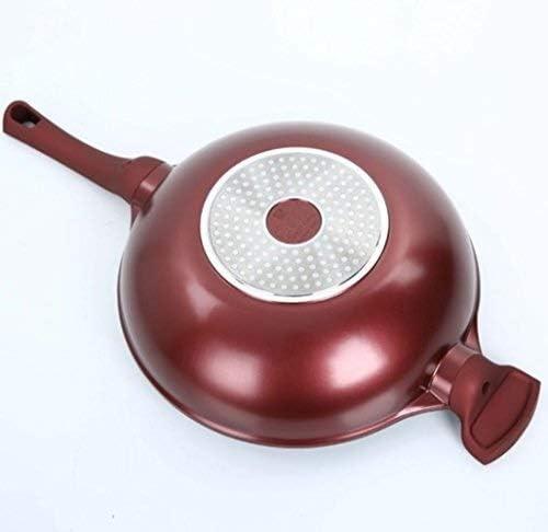 QYJpB Casseroles, poêles et faitouts Frying Pan, Maifan Pierre Smokeless antiadhésif Pan, pot Barbecue Cuisinière au gaz