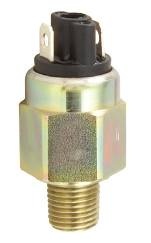 Gems Sensors 213429 OEM Subminiature Pressure Switch with Zinc-Plated Steel Fitting, 100VA, 40-150 psi Pressure, 1/4'' NPT Male, SPST/Normally Open Circuit