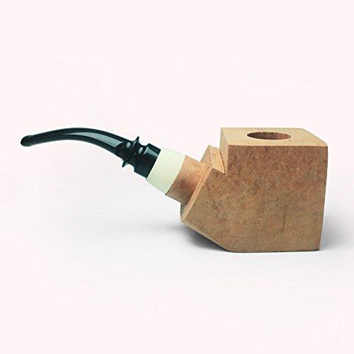 Tobacco Pipe Mediterranean Briar Wood Block - Semi-Finished Tobacco Pipe -Style 11