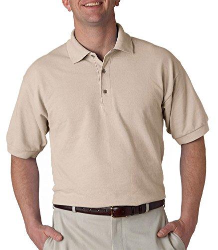 (Gildan Men's Welt Collar Pique Polo Shirt, Sand, X-Large)