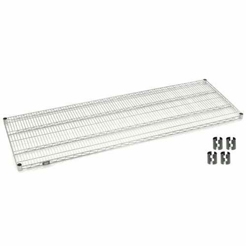 Nexel Chrome Wire Shelf w/Clips, 48