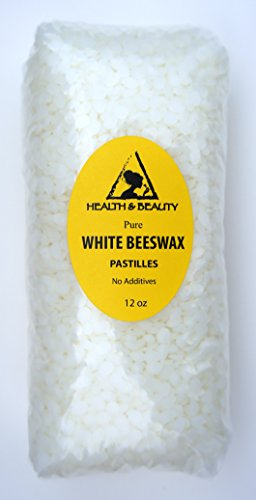 White Beeswax Bees Wax Organic Pastilles Beads Premium Prime Grade A 100% Pure 12 oz
