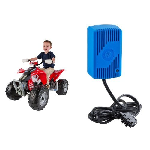 Peg Perego Polaris Red Outlaw with 12 Volt Quick Charger Bundle