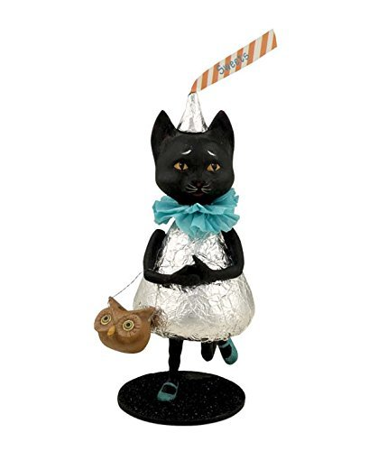 Bethany Lowe Miss Kitty Kisses Figurine Halloween Black Cat Chocolate Kiss -