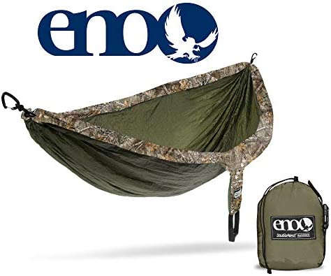ENO, Eagles Nest Outfitters DoubleNest Camo Lightweight Camping Hammock, 1 to 2 Person