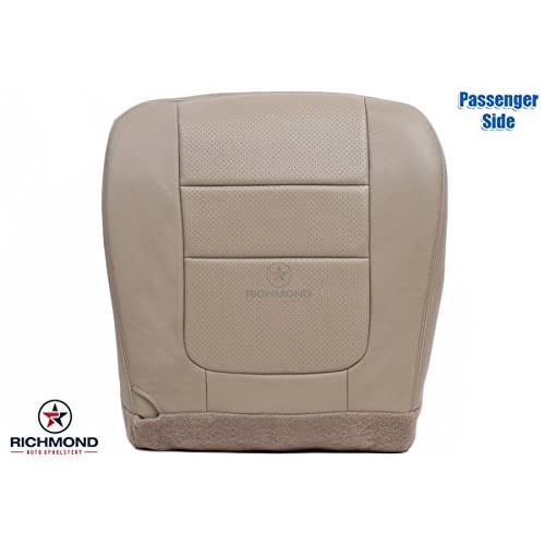 2001 Ford F 250 Lariat Perforated Passenger Side Bottom Replacement Leather Seat Cover Tan
