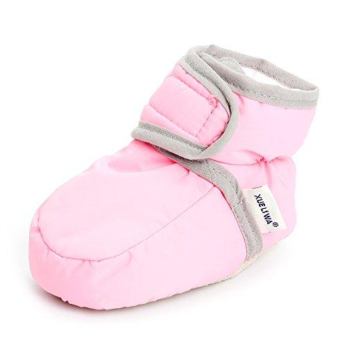(Enteer Infant Premium Soft Sole Anti-Slip Prewalker Toddler Boots Pink US 3)