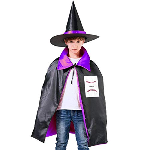 Smalls Sandlot Halloween (You're Killing Me Smalls, Funny On The Eve of Halloween Purple Sandlot Forever,Squints and Wendy Wizard Hat Cape Cloak)